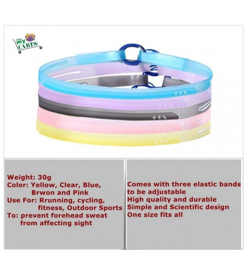 Silicone Sweat Control Head Band Sweatband Headband Cycling GYM Outdoor Sports