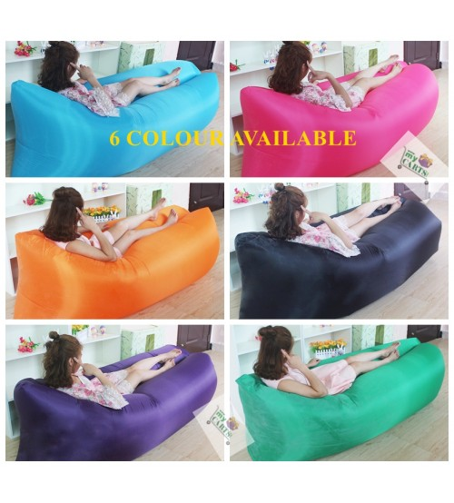 Fast Inflatable Air Sofa & Camping Bed for Beach Hangout Holiday Rest Indoor