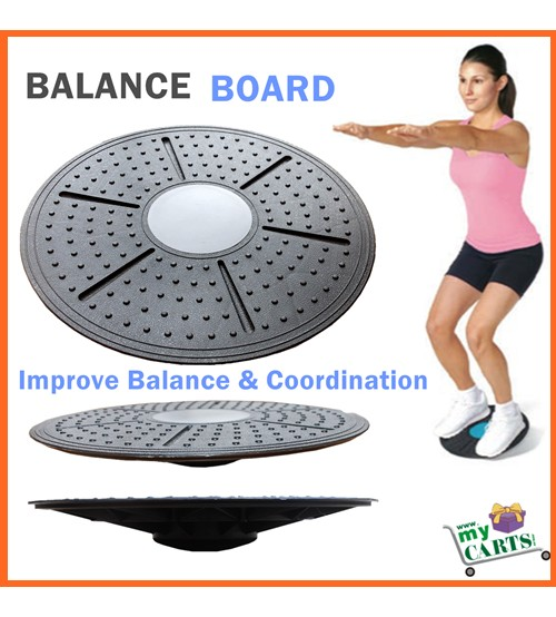 NEW Wobble Balance Board Core Strength Fitness Rehab Yoga Pilates Disc Home Gym