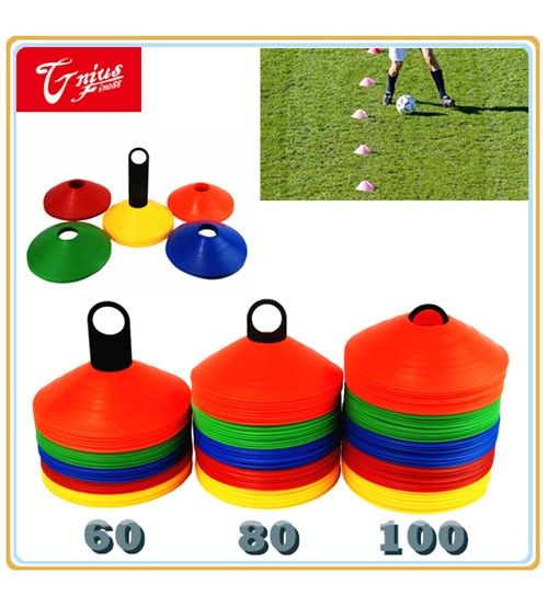 60/80/100 PACK SPORTS TRAINING DISCS MARKERS CONES SOCCER AFL EXERCISE