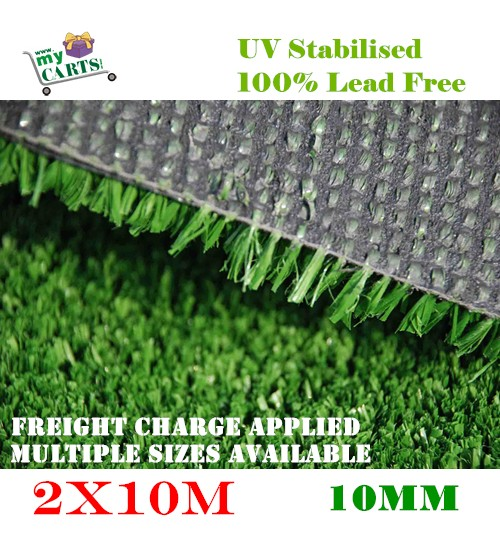 New 2x10M 20M2 Artificial Grass Synthetic Turf Plastic Green Plant Lawn Flooring