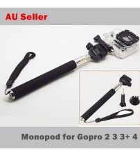 New Monopod Ski Pole Handle w/ Tripod Mount GoPro HD Hero 2 3 3+ 4 Selfie Stick