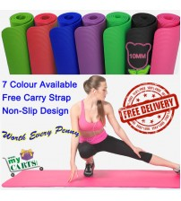 Brand New Free Postage Extra Thick 10mm NBR Yoga Gym Pilate Mat NonSlip -7 Color